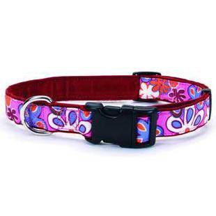 "Too! Funky Floral Collar 1"" 18 - 24"" Ffr - Peazz Pet"