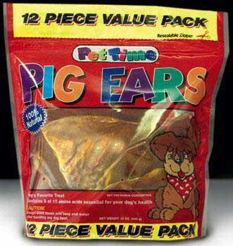 Pet Time Value Pack - Pig Ears (12pc) (00861/00867) - Peazz Pet