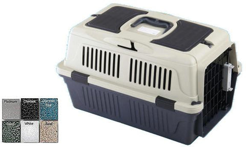 "A&E Cage CD2-1 Green 20"" x 13"" x 13 - Case of 6 Deluxe Pet Carrier with seat belt holder - Peazz Pet"
