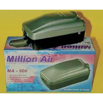 Million Air Ma - 600 Double Outlet Air Pump With Variable Flow Control Knob - Peazz Pet