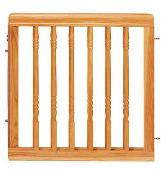 Evenflo G1556C Home Decor Stair Gate- Natural Oak - Peazz Pet