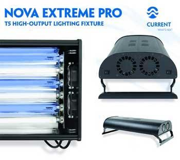 Current USA Nova Extreme Pro T5 Aquarium Lighting Fixture, 6X39 Watt, 36 inch - Peazz Pet