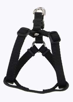 "Comfort Wrap Adj Harness 3/4"" Black - Peazz Pet"