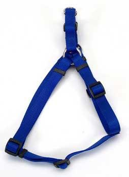 "Comfort Wrap Adj Harness 3/4"" Blue - Peazz Pet"