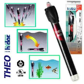 "Hydor USA Inc. Theo 100 Watt Submersible Shatterproof Heater 8.9"" HY00035 - Peazz Pet"