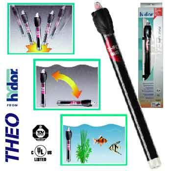 "Hydor USA Inc. Theo 200 Watt Submersible Shatterproof Heater 12"" HY00036 - Peazz Pet"