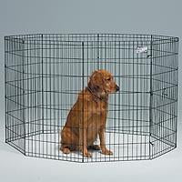 Midwest Black E-coat Pet Exercise Pen - 42 In. (556-42)