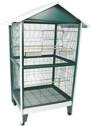 "A&E Cage 100B-1 Large Pitched Roof Aviary 32'x28""x72 - Peazz Pet"