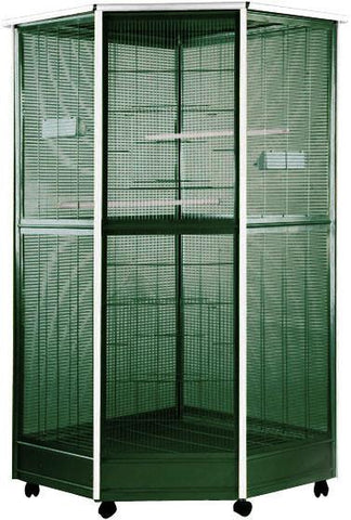 "A&E Cage 100G-1 Large Corner Aviary 52""x42""x74"" - Peazz Pet"