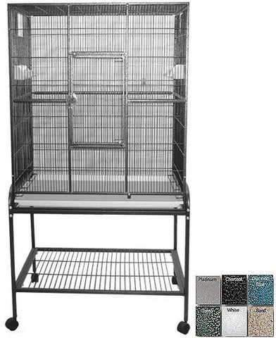 "A&E Cage 13221 Black 32""x21"" Flight Cage & Stand - Peazz Pet"