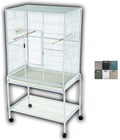 "A&E Cage 13221 Platinum 32""x21"" Flight Cage & Stand - Peazz Pet"