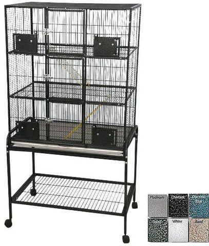 "A&E Cage 13221-SA Black 32""x21"" - 3 Level Animal Cage with Removable Base - Peazz Pet"