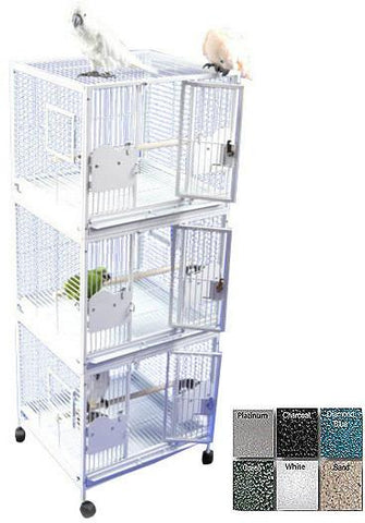 "A&E Cage 2422-3 Black 24""x22"" Triple Stack - Peazz Pet"