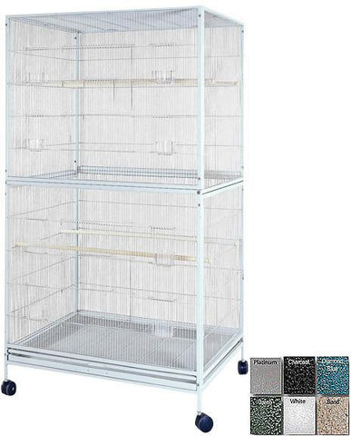"A&E Cage 4030FL Black 40""x30"" Extra Large Flight Cage - Peazz Pet"