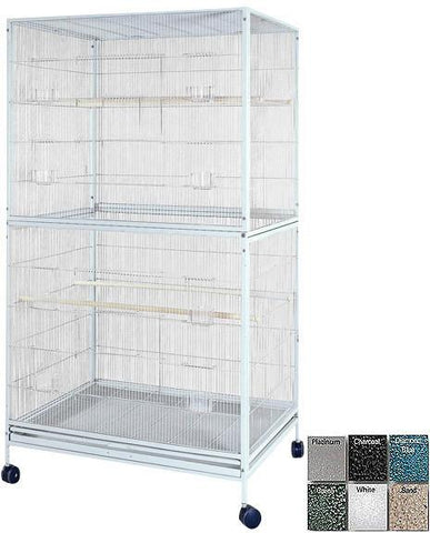 "A&E Cage 4030FL White 40""x30"" Extra Large Flight Cage - Peazz Pet"