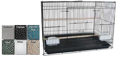 "A&E Cage 503 Flight Black Case of 6 24""x16"" Flight Cage - Peazz Pet"