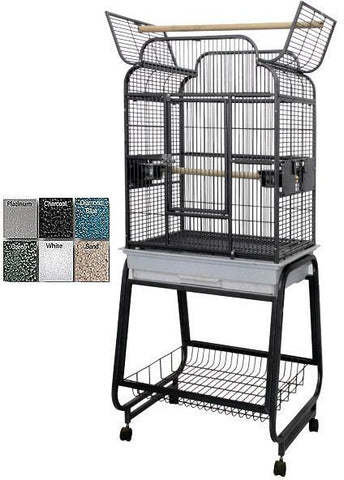 "A&E Cage 782217 Black 22""x17"" Open Victorian Top with Plastic Base - Peazz Pet"