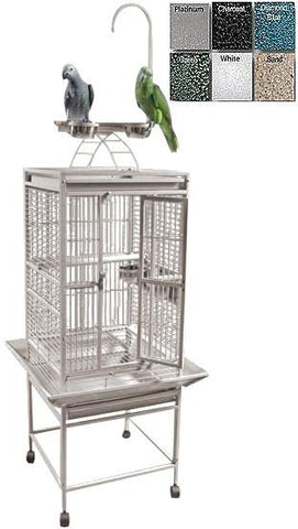 "A&E Cage 8001818 Black 18""x18"" Play Top Cage with 5/8"" Bar Spacing - Peazz Pet"