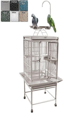 "A&E Cage 8001818 Platinum 18""x18"" Play Top Cage with 5/8"" Bar Spacing - Peazz Pet"