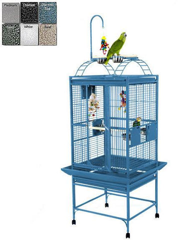"A&E Cage 8002422 Green 24""x22"" Play Top Cage with 5/8"" Bar Spacing - Peazz Pet"