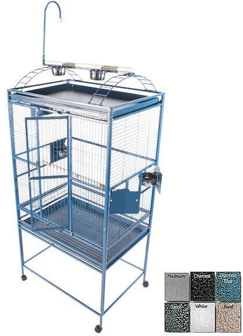 "A&E Cage 8003223 White 32""x23"" Play Top Cage with 5/8"" Bar Spacing - Peazz Pet"