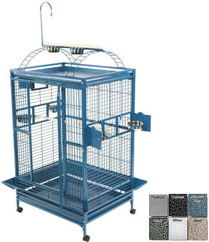 "A&E Cage 8003628 Black 36""x28"" Play Top Cage with 1"" Bar Spacing - Peazz Pet"