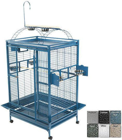 "A&E Cage 8003628 Platinum 36""x28"" Play Top Cage with 1"" Bar Spacing - Peazz Pet"