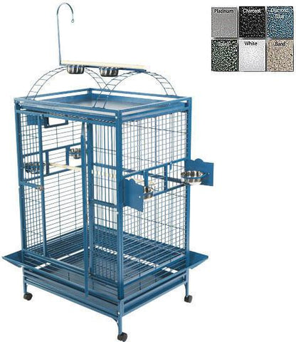 "A&E Cage 8004030 Green 40""x30"" Playtop Cage with 1"" Bar Spacing - Peazz Pet"