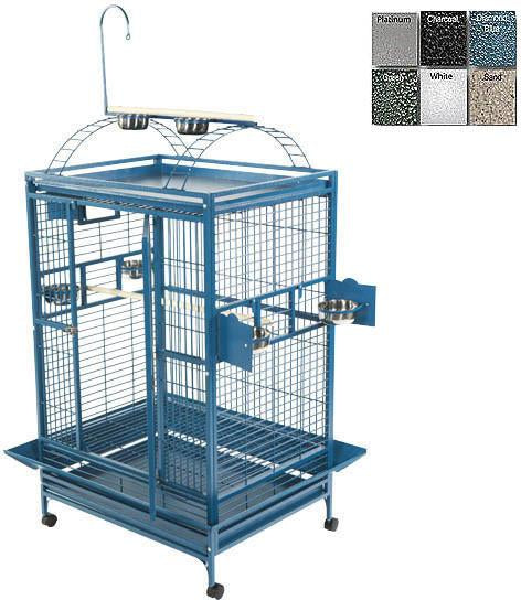 A&E Cage 8004836 Black 48 x36  Playtop Cage With 1  Bar S...