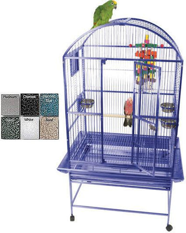 "A&E Cage 9003223 Black 32""x23"" Dome Top Cage with 3/4"" Bar Spacing - Peazz Pet"