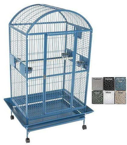 A&E Cage 9003628 Black Extra Large Dome Top Bird Cage - Peazz Pet