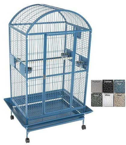 "A&E Cage 9004030 Black 40""x30"" Dome Top Cage with 1"" Bar Spacing - Peazz Pet"