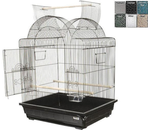 "A&E Cage AE29629 Ivory 2 Pack of 25""x21"" Victorian Open Top Cage - Peazz Pet"