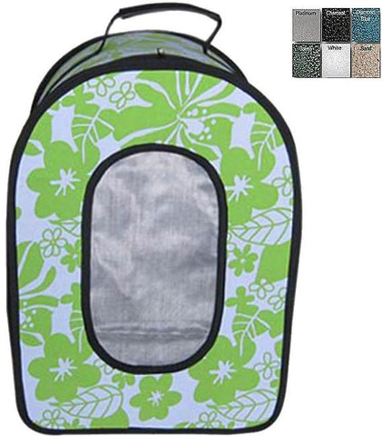 "A&E Cage HB1506L Green  18.5"" x 13.5"" x 9"" -  Soft Sided Travel Carrier - LARGE GREEN - Peazz Pet"