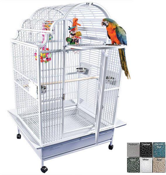 A&E Cage Gc6-4032 White 40 x32  Opening Victorian Top Cage