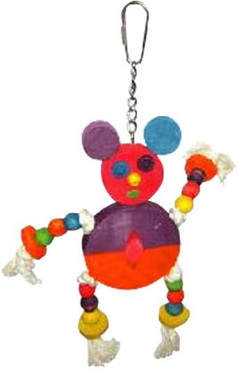 A&E Cage Hb46352 The Crazy Wooden Mouse Bird Toy