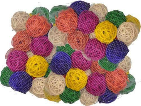 "A&E Cage HB46584 100 Pack of 3"" Colored Vine Balls - Peazz Pet"