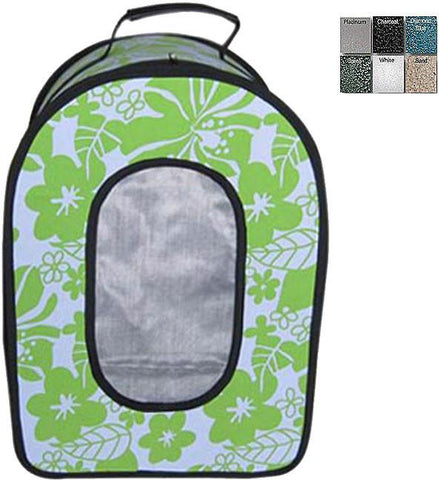 "A&E Cage HB1506S Green  14.5"" x 10.5"" x 7"" - Soft Sided Travel Carrier - SMALL GREEN - Peazz Pet"