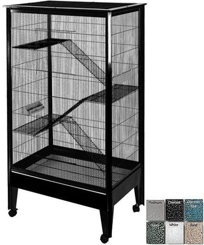 A&E Cage SA3221H BK/PL Large - 4 Level Small Animal Cage on Casters - Peazz Pet