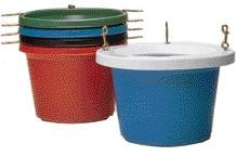 Round Feeder Tub Rf30 Green 30 Quart (Rf30Green) - Peazz Pet