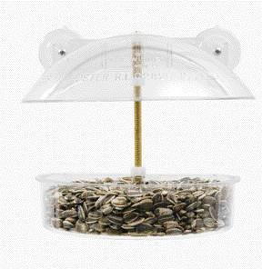 Winner Classic Window Feeder Clear  (W-1) - Peazz Pet