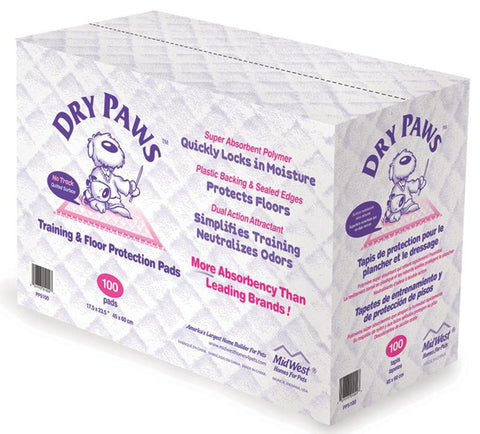 Dry Paws Training Pads 100 Pack (Pps100) - Peazz Pet