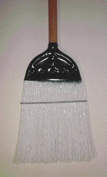 Poly Broom W-Metal Head Clear  (10214) - Peazz Pet