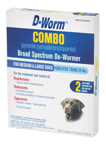 D-Worm Combo Large Dog 2 Pack (100503371) - Peazz Pet