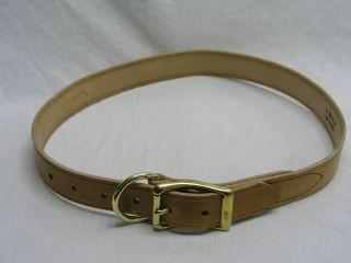 "Cow Collar - Tan 1.5"" x 48"" (48/40) - Peazz Pet"