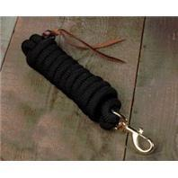Lead Cowboy Braided Rope - Black 10 FT (BL58B BK) - Peazz Pet