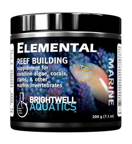 Brightwell Aquatics Elemental Dry Reef Building Supplement, 400 grams - Peazz Pet