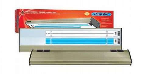 Coralife Aqualight Double Linear Strip Compact Fluorescent Fixture, 2X65 Watt, 30 inch (53103) - Peazz Pet