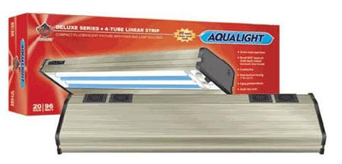 Coralife Aqualight Single Linear Strip Compact Fluorescent Fixture, 1X96 Watt (quad) 50/50 20 inch (53101) - Peazz Pet