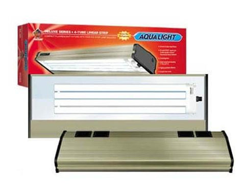 Coralife Aqualight Single Linear Strip Compact Fluorescent Fixture, 1X96 Watt (quad), 6700K, 20 inch (53111) - Peazz Pet
